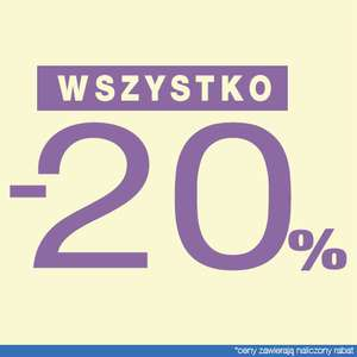 Rabat 20% na wszystko @ Pretty Girl