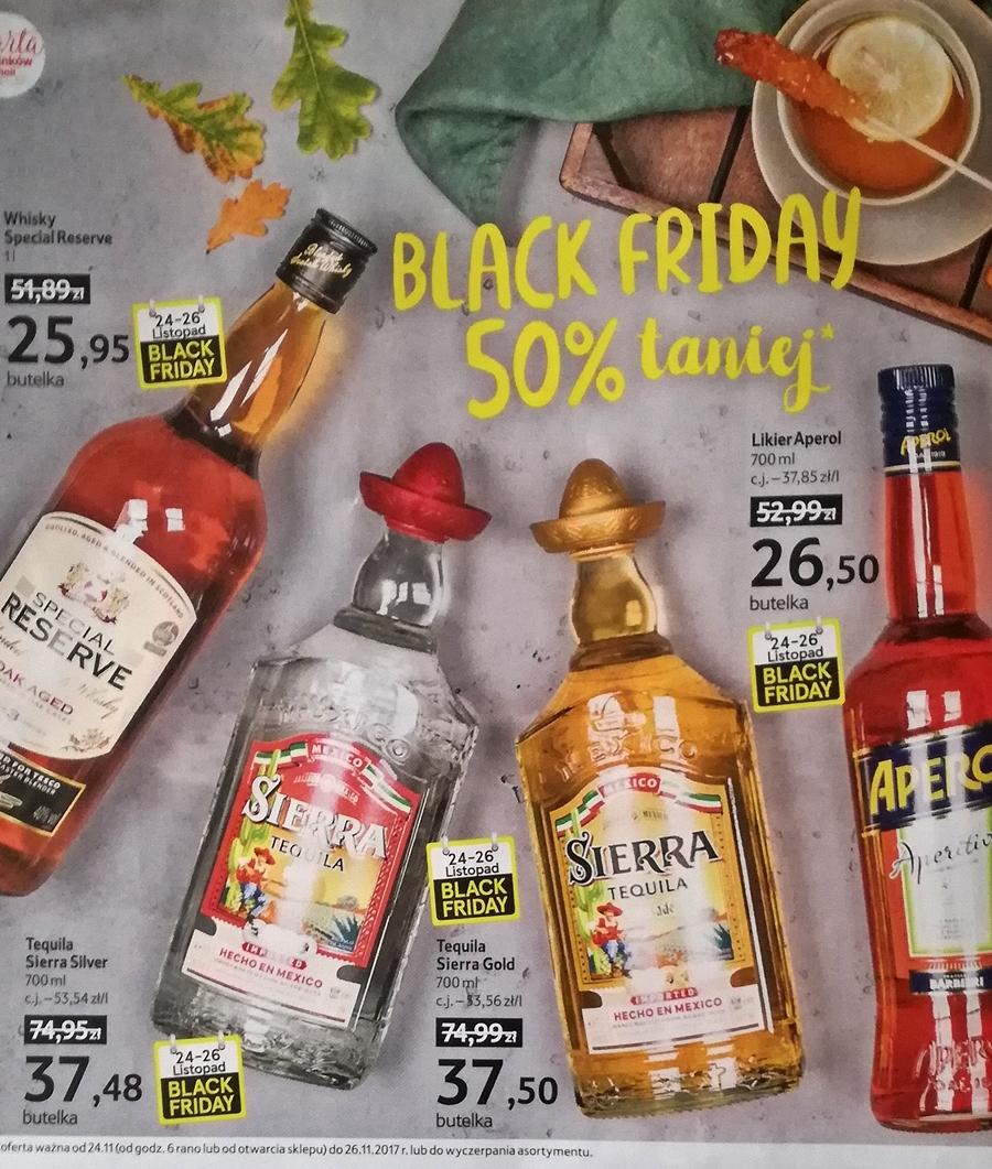 [BLACK FRIDAY] TESCO / Sierra Tequila Gold oraz Silver 700 ml