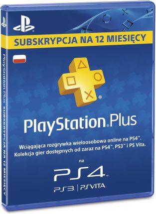 Playstation Plus - 12 miesięcy (EURO + PS STORE)