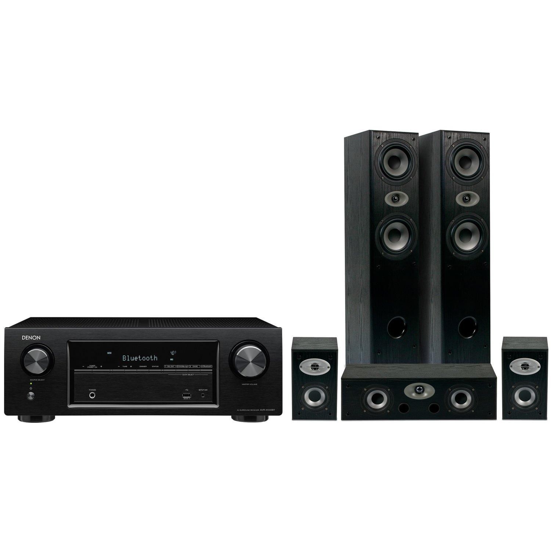 Kino domowe Denon AVR-X540BT + głośniki Eltax Experience 5.0 (czarne) 600zł taniej @ Media Markt
