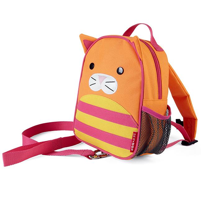 SKIP HOP Plecak ze smyczą Baby Zoo Kot