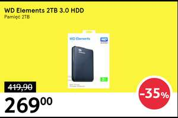 Tesco: WD Elements Portable 2TB USB 3,0