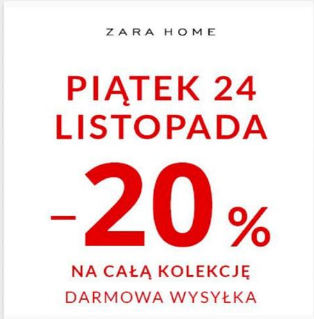 [Black Friday] -20% na całą kolekcję + darmowa dostawa @ Zara Home