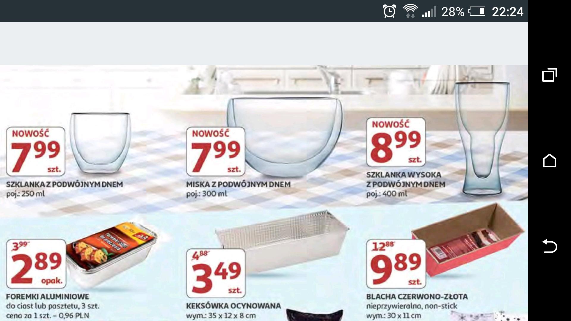 Szklanki termiczne w Auchan