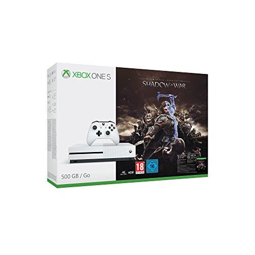 Xbox One S 500GB + Shadow Of War @Amazon.de