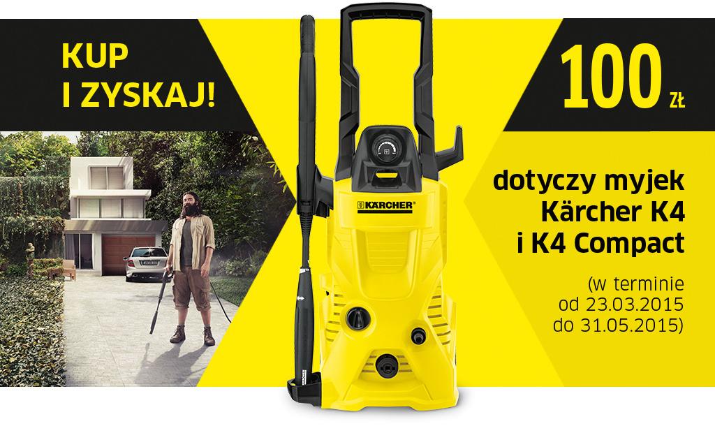 Premia 100zł przy zakupie urządzenia Karcher K4 lub Karcher K4 Compact @ Redcoon