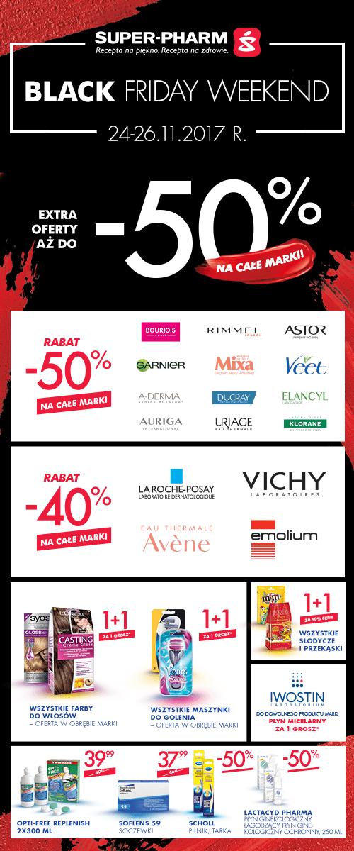 [Black Friday] 50% rabatu na całe marki @ Super-Pharm