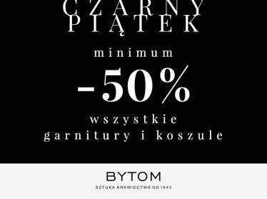 [Black Friday] Minimum 50% rabatu na wszystkie garnitury i koszule @ Bytom