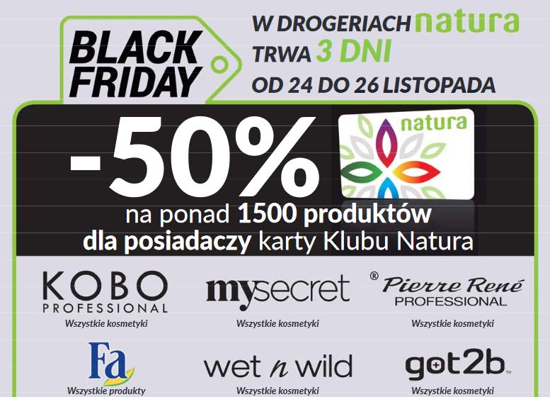 -50% na 1500 produktów (z kartą) + mascara Kobo za 1grosz @ Natura