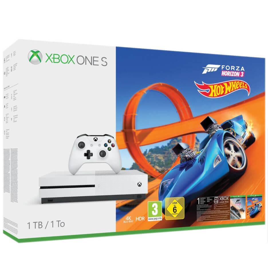 1TB Xbox One S Console - Forza Horizon 3 + Hot Wheels + Lego Movie 4K