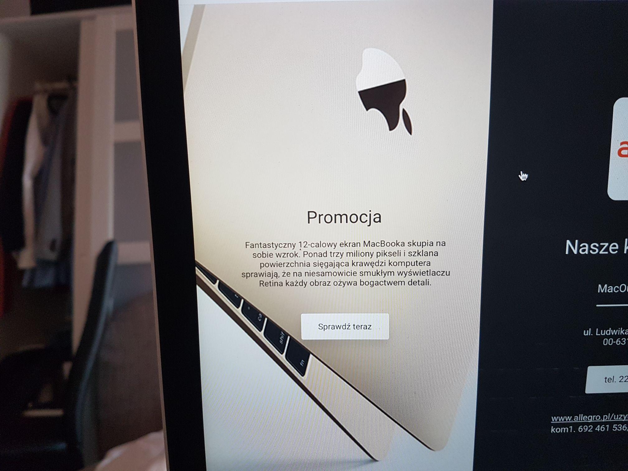Apple MacBook 12 kolor Złoty Core M 1.2ghz 8gb 512gb