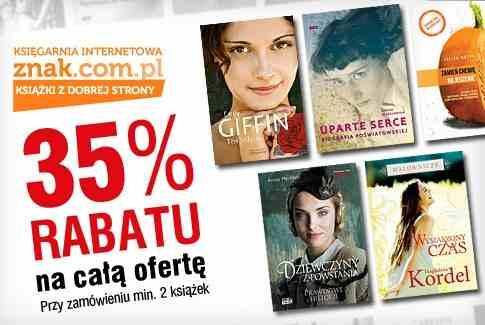 Darmowy kupon ze zniżką -35% na całą ofertę księgarni znak.com.pl @ Gruper