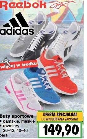 Buty Adidas/ Reebok po 149,90zł @ Kaufland