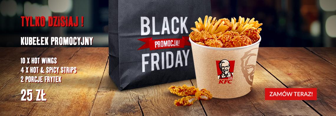Black friday  kubełek w Kfc dostawa
