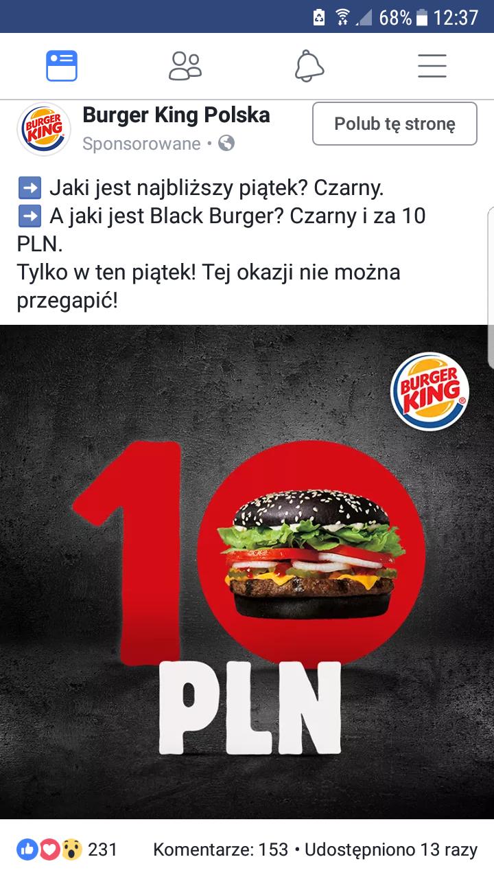 Czarny piątek Burger King