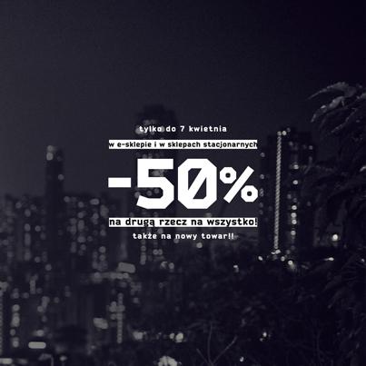 Rabat 50% na drugą rzecz @ Cropp