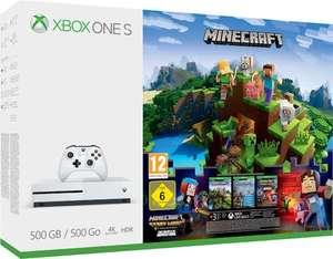 Xbox One S 500GB + 3 gry Minecraft + 3 msc Live Gold + 1 msc Game Pass