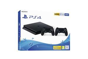 PS4 Slim (500 GB), 2 pady, czarna