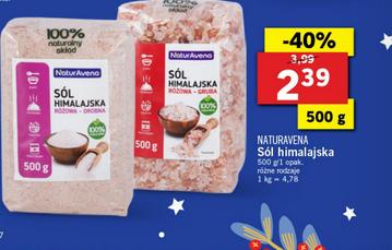 Sól himalajska 500g za 2,39zł (-40%) @ Lidl