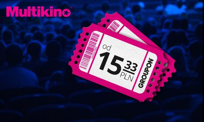 Bilety do sieci Multikino od 15,33zł @Groupon