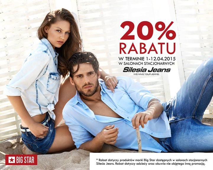 20% rabatu na odzież i obuwie Big Star @ Silesia Jeans