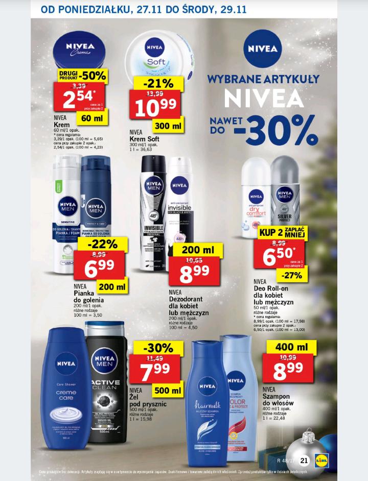 Do -30% na produkty Nivea - Lidl