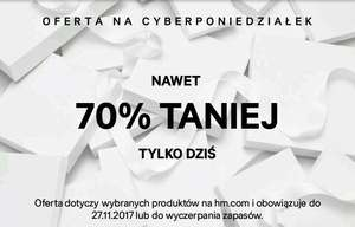CyberMonday do -70% na @h&m