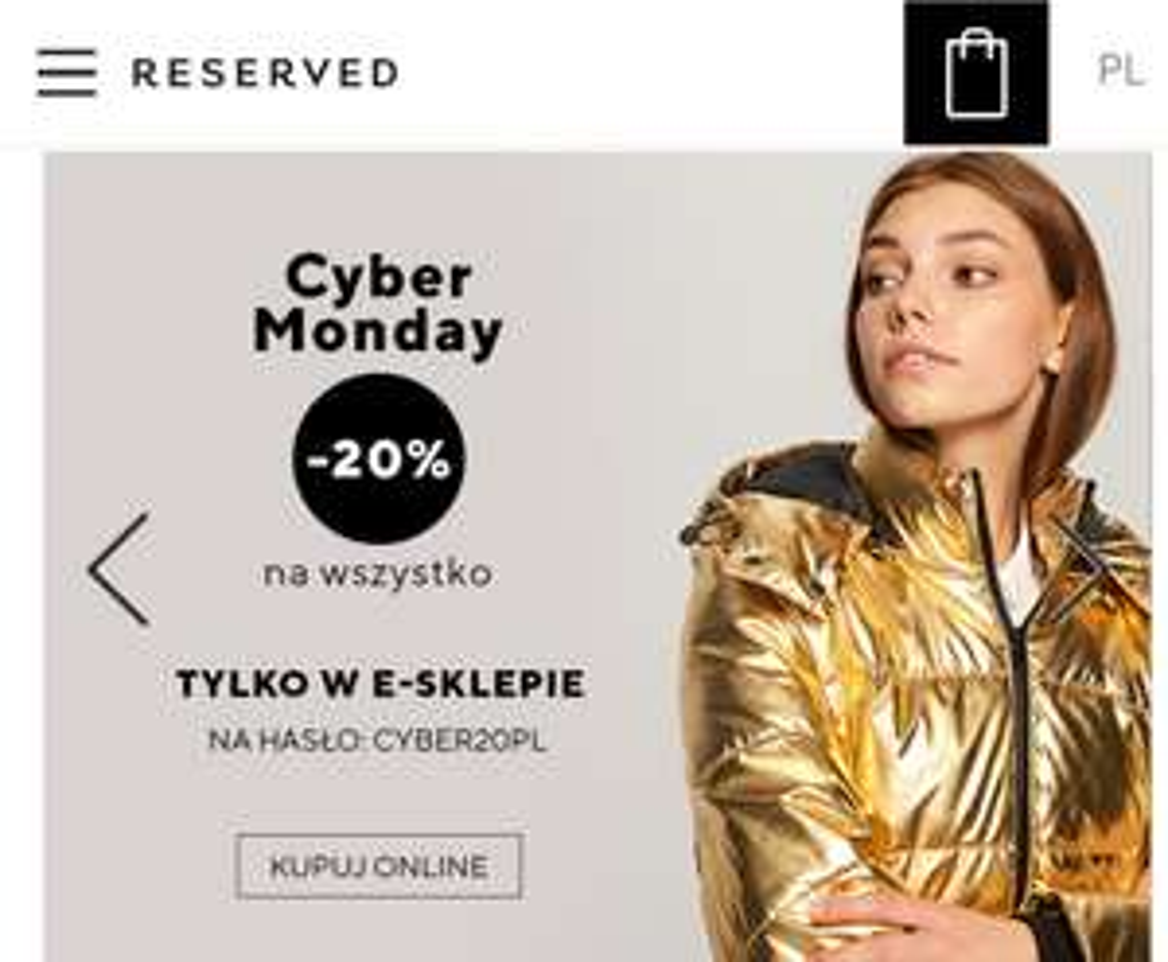 -20% na wszystko w e-sklepie Reserved.