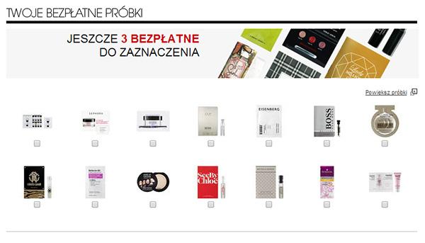 5 darmowych próbek jeśli zrobimy zakupy @ Sephora