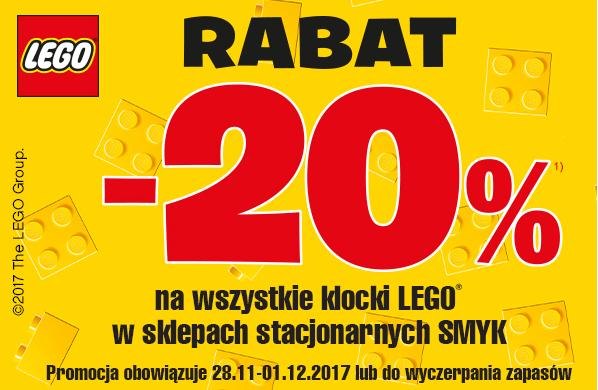 Rabat -20% na klocki Lego (stacjonarnie) @ Smyk