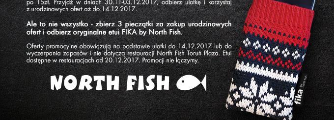 North Fish: duży dorsz czarny z frytkami i napojem za 15 zł oraz inne oferty na 15-lecie