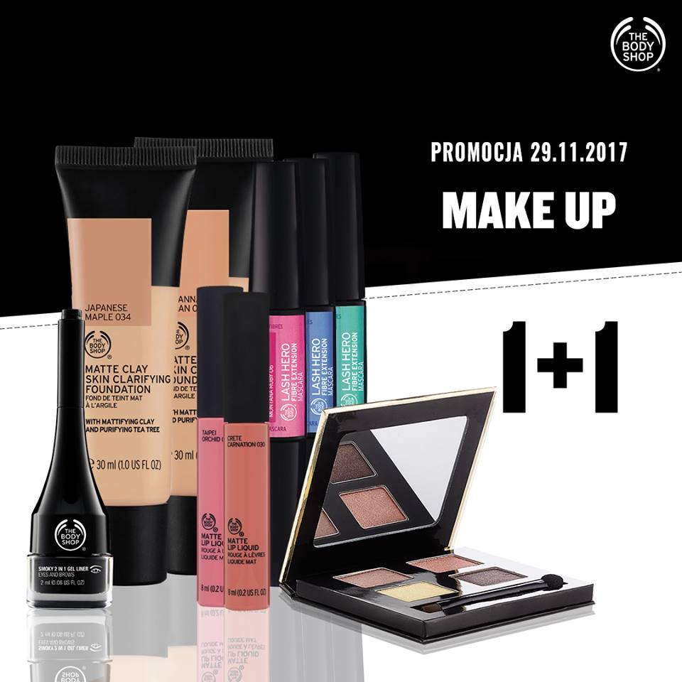 1+1 gratis na kosmetyki do makijażu @ The Body Shop