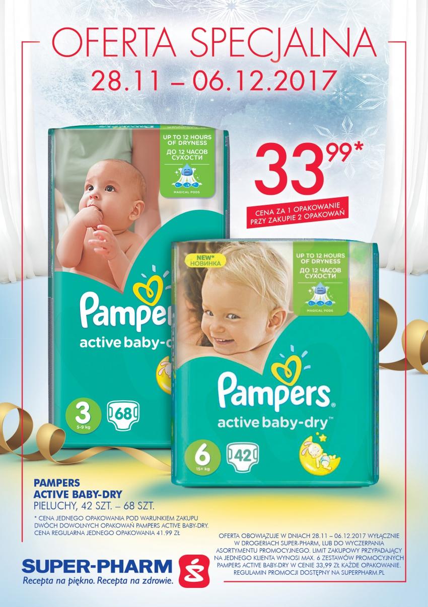 Pieluchy Pampers Active Baby-Dry (cena przy zakupie 2 opakowań) @Super-Pharm