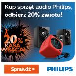 Premia w wys.20% wartości produktu za zakup sprzętu audio marki Philips @ Philips