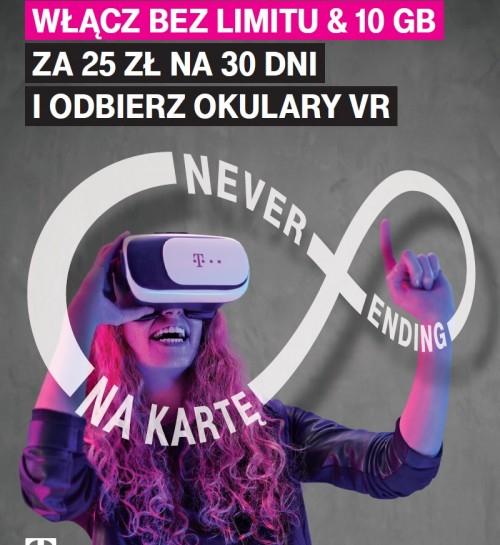 T-Mobile rozdaje okulary VR w ofercie na kartę za 25 zł