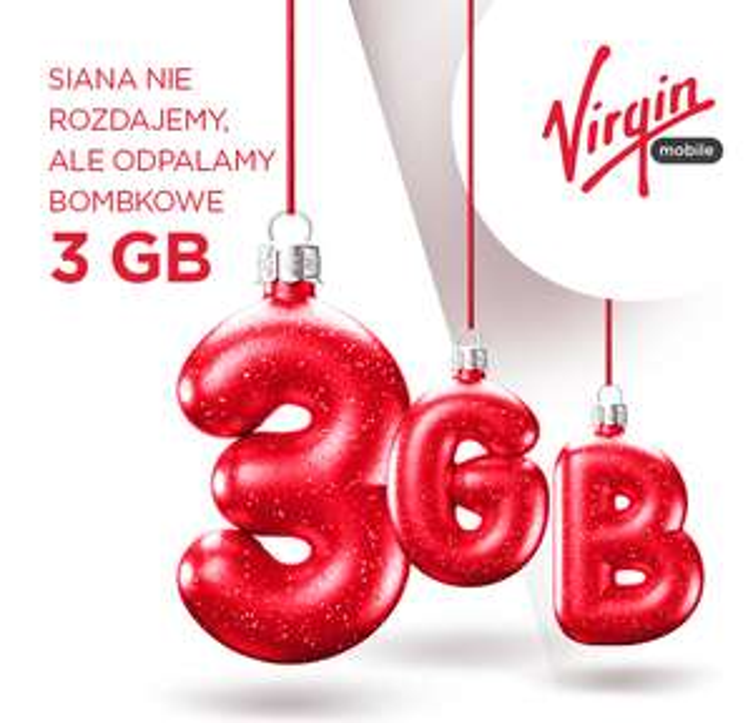 Virgin Mobile - darmowe 3GB internetu na święta