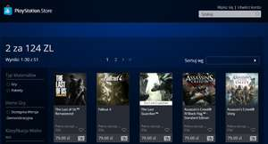 2 gry za 124zł (np. Last Guardian, The Last of Us, Fallout 4, Far Cry 4 i inne) @ Playstation Store