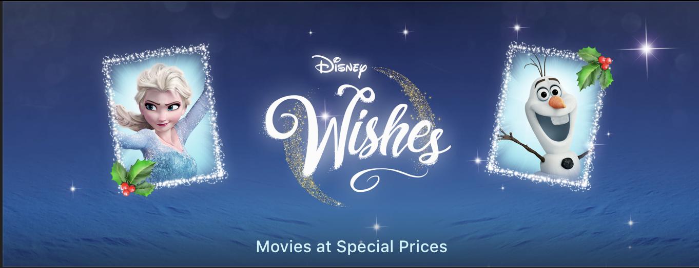 Promocja na filmy od Disneya w iTunes