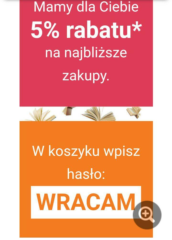 5% rabatu na wszystko na @czytam.pl