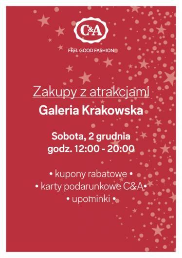 Zakupy z atrakcjami - rabaty, karty podarunkowe, upominki @ C&A (Galeria Krakowska)