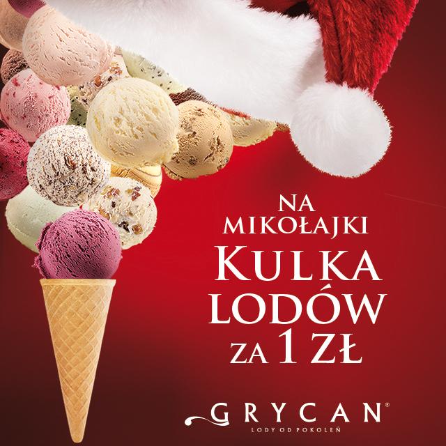 [6 grudnia] Kulka lodów za 1zł @ Grycan