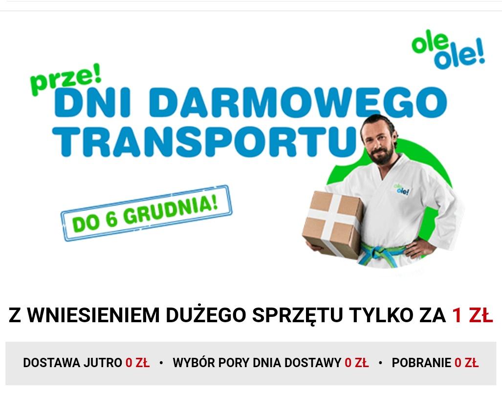 Dni Darmowego Transportu - do 6 Grudnia na OleOle