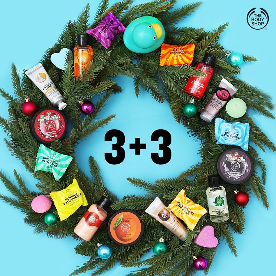 3+3 gratis na wybrane produkty @ The Body Shop
