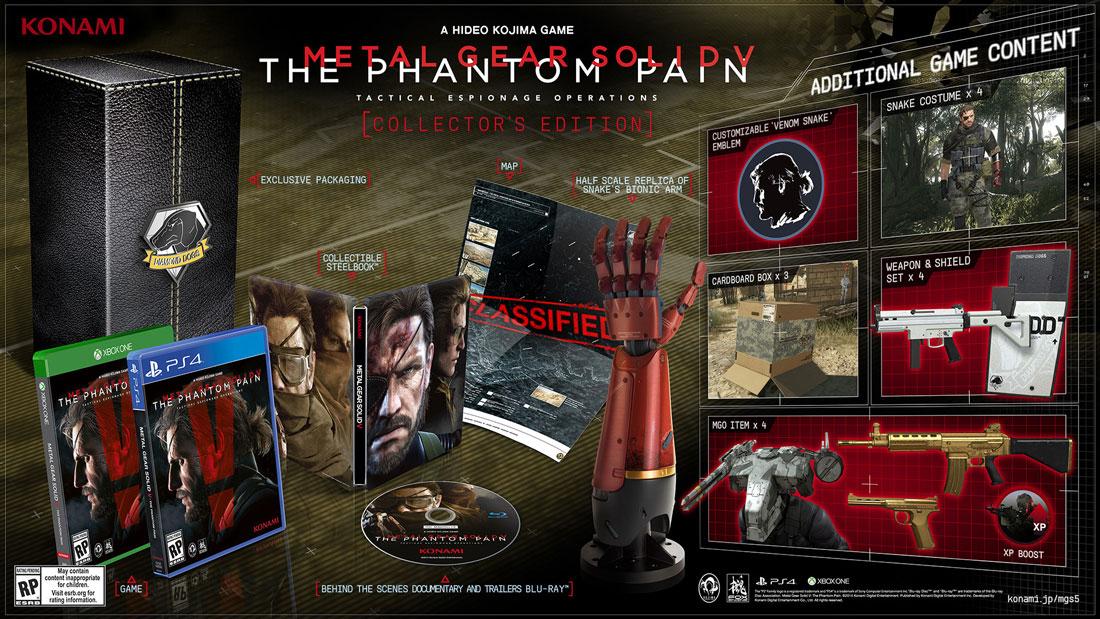 Metal Gear Solid V: The Phantom Pain - Edycja kolekcjonerska PS4 i XONE.