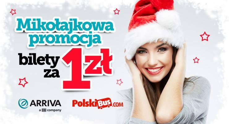 Mikołajkowa promocja Arriva/Polskibus