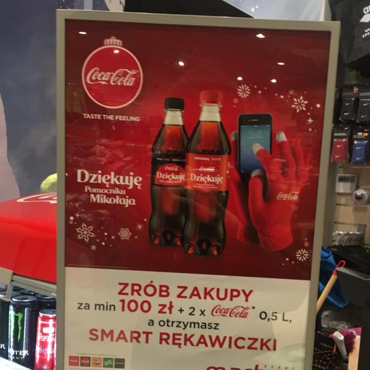 Dotykowe rękawiczki przy zakupach za min 100 zł za 5,98zł (+2x Coca Cola) @Martes Sport