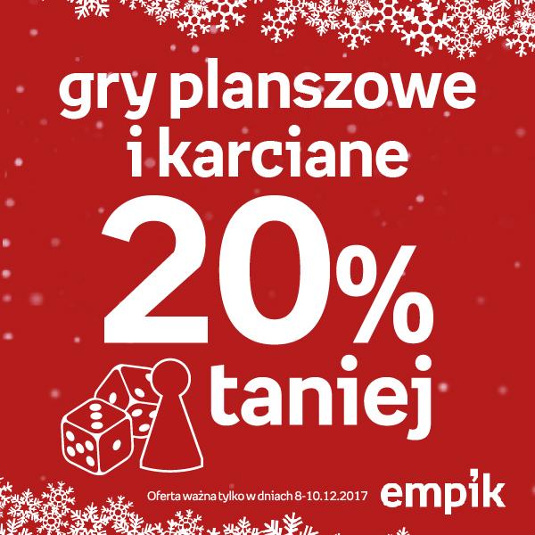 -20% na wszystkie gry karciane i planszowe (od jutra 8.12) @ Empik