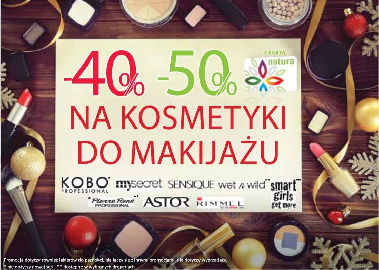 -50% na kosmetyki do makijażu @ Natura