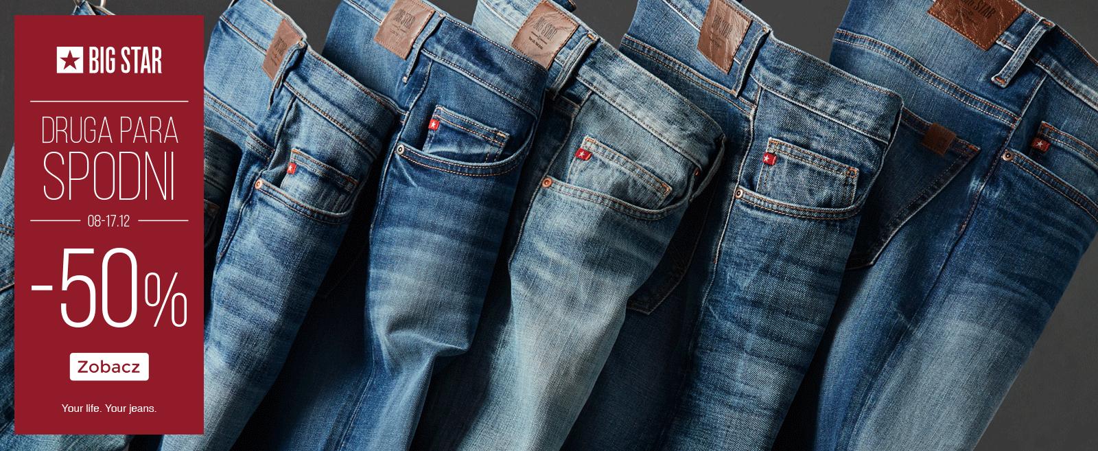-50% na drugą parę spodni (także w outletach) @ Big Star