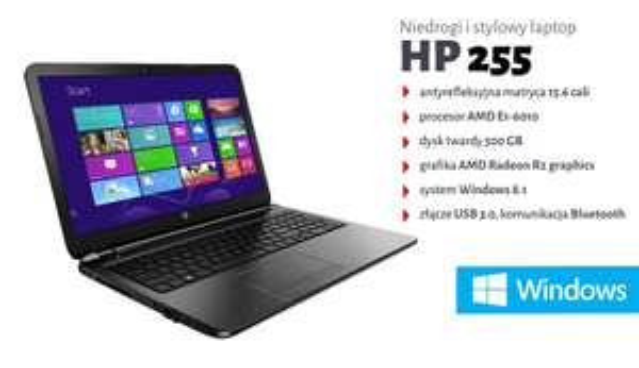 HP 255 E1-6010 / 2GB / 500GB / Windows 8.1 za 999zł @ Komputronik
